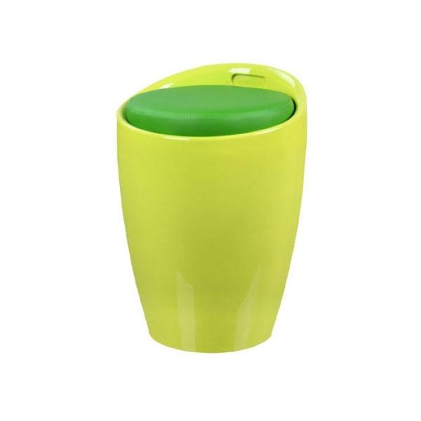 Stołek z koszem na zabawki Tubo King Home zielony LI-KK-705W.ZIELONY