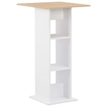 Stolik barowy, biały, 60 x 60 x 110 cm