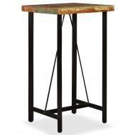 Stolik barowy, lite drewno z odzysku, 60x60x107 cm