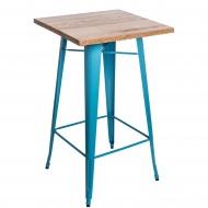 Stolik barowy Paris Wood D2 jesion/niebieski