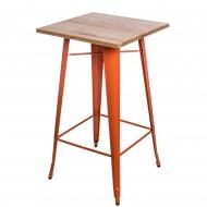 Stolik barowy Paris Wood D2 jesion/pomarańczowy