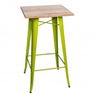 Stolik barowy Paris Wood D2 jesion/zielony