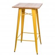 Stolik barowy Paris Wood D2 jesion/żółty
