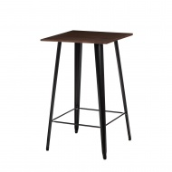 Stolik barowy Paris Wood D2 sosna orzech/czarny