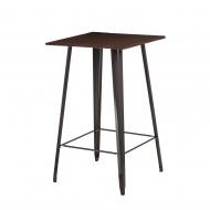 Stolik barowy Paris Wood D2 sosna orzech/metaliczny