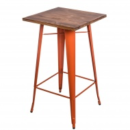 Stolik barowy Paris Wood D2 sosna/pomarańczowy