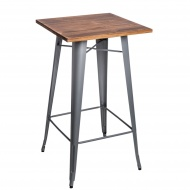 Stolik barowy Paris Wood D2 sosna/srebrny