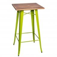 Stolik barowy Paris Wood D2 sosna/zielony