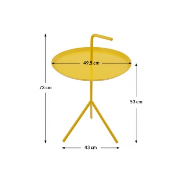 Stolik BLANCO żółty - metal