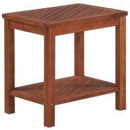 Stolik boczny z litego drewna akacjowego, 45 x 33 x 45 cm