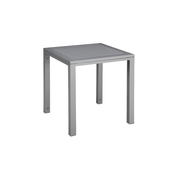 Stolik Cubic blat aluminiowy 45x50x50  grey DK-23520