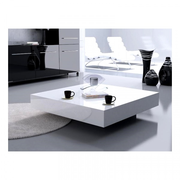 Stolik D2 Small Quadrat 80 biały wenge 25 DK-71872