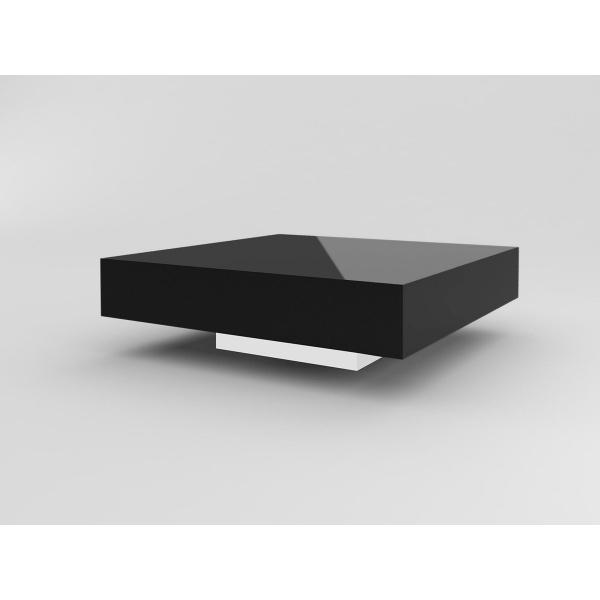 Stolik D2 Small Quadrat 80 czarny biały wysokość 35 5902385700740