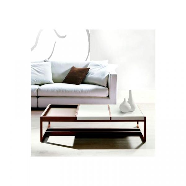Stolik D2 Tray Big orzechowy biały DK-71679