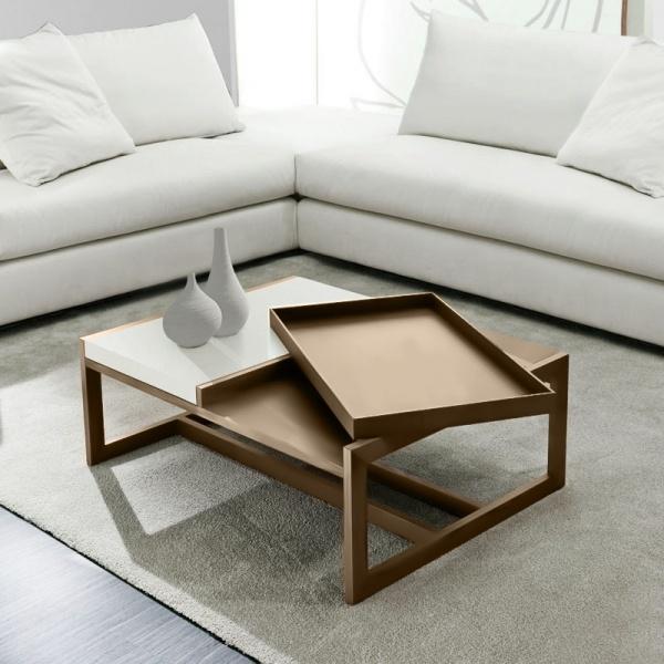 Stolik D2 Tray Small beżowy biały DK-71694
