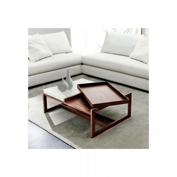 Stolik D2 Tray Small orzechowy biały DK-71682