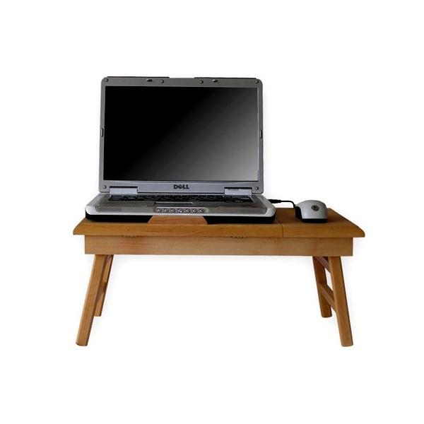 Stolik do laptopa z podstawką Comfortable 15 naturalny CT-1510