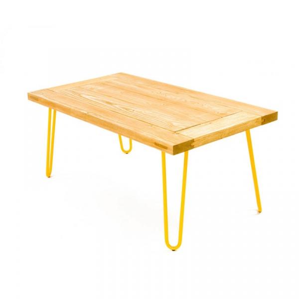 Stolik kawowy 100x65x45cm Gie El żółty FCT0011