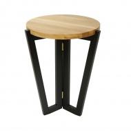 Stolik kawowy 450 60x45cm Maduu Studio Windmill Round czarno-brązowy