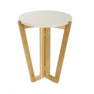 Stolik kawowy 450 MD 60x45cm Maduu Studio Windmill Round biało-brązowy