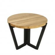 Stolik kawowy 600 45x60cm Maduu Studio Windmill Round czarno-brązowy