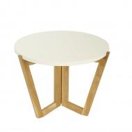 Stolik kawowy 600 MD 45x60cm Maduu Studio Windmill Round biało-brązowy