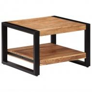 Stolik kawowy, 60x60x40 cm, lite drewno akacjowe
