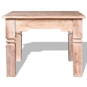 Stolik kawowy, drewno akacjowe 60x60x45 cm