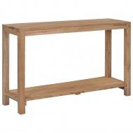 Stolik konsola, 120 x 35 x 75 cm, lite drewno tekowe