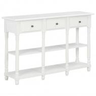 Stolik konsolowy, biały, 120x30x76 cm, MDF