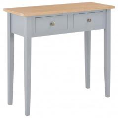 Stolik konsolowy, szary, 79x30x74 cm, drewniany