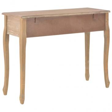 Stolik konsolowy z 3 szufladami, brązowy