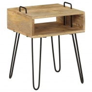 Stolik nocny z litego drewna mango, 40 x 34 x 47 cm