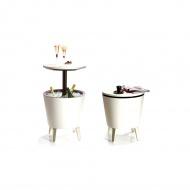 Stolik ogrodowy 3w1 57/84,5 cm Bazkar COOL BAR Cream/biały