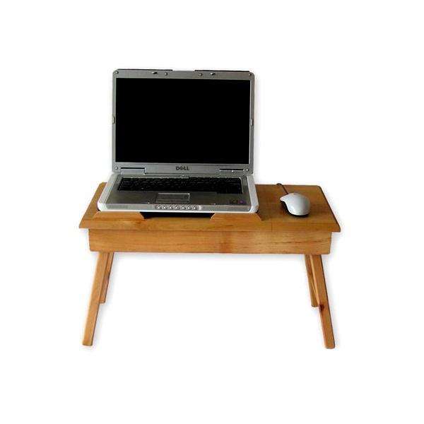 Stolik pod laptopa z szufladką Comfordable XXL naturalny CT-2020
