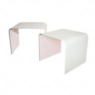 Stolik szklany King Home Priam Duo biały