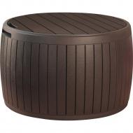 Stolik ze skrzynią 140l Keter Circa Wood brązowy