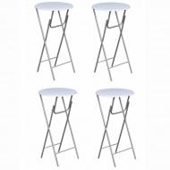 Stoliki barowe z blatami z MDF, białe, 4 szt.