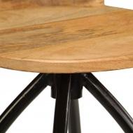 Stołki barowe, 2 szt., lite drewno mango, 40 x 40 x 82 cm
