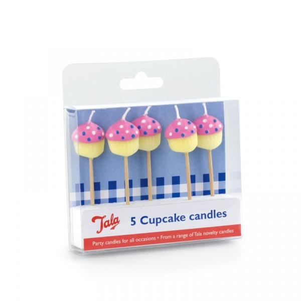 Świeczki na tort 5 szt. Cupcake Tala multikolor 10A10184
