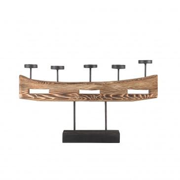Świecznik lite drewno GUATEMALA