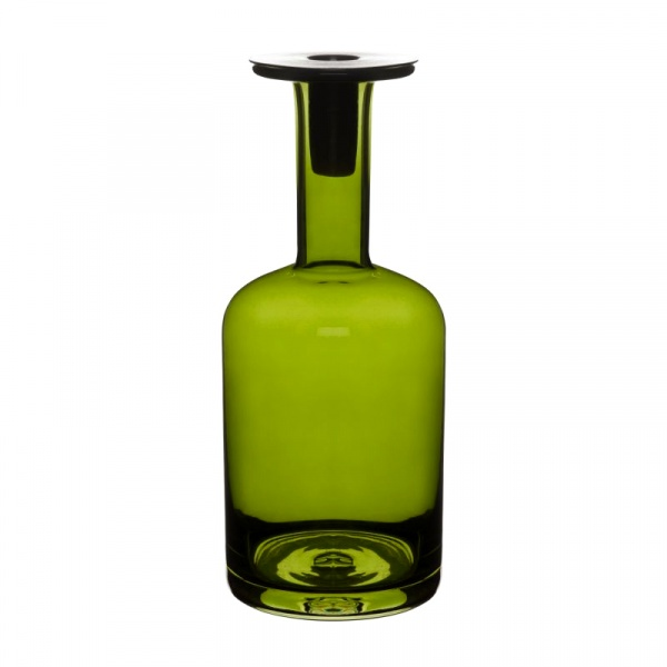 Świecznik szklany Sagaform Pava duży zielony SF-5016343