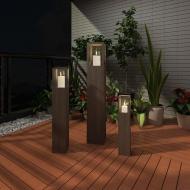 Świeczniki ogrodowe, lampiony (x3)