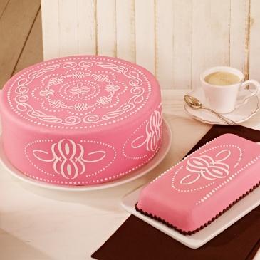 Szablony do dekoracji tortów PATTERN 2 szt. Birkmann Cake Couture