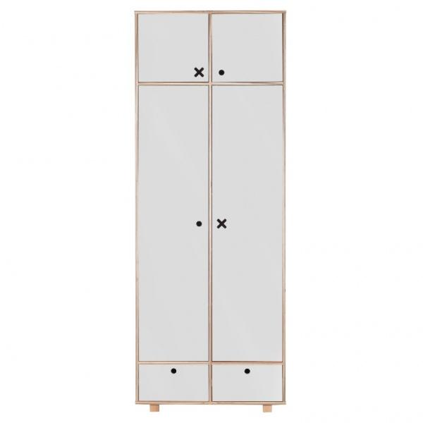 Szafa 2-drzwiowa 215x80 Durbas Style Kółko Krzyżyk szara DUS902