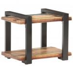 Szafka nocna, 50x40x40 cm, lite drewno odzyskane