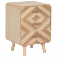 Szafka nocna z 3 szufladami, 40x35x56,5 cm, lite drewno