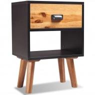 Szafka nocna z litego drewna akacjowego, 40x30x45 cm