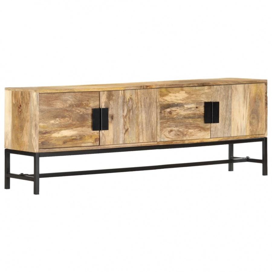 Szafka pod telewizor, 140x30x50 cm, lite drewno mango kod: V-285863 + Z NAMI NIE RYZYKUJESZ