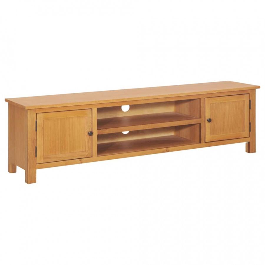 Szafka pod telewizor, 165x36x46 cm, lite drewno dębowe kod: V-247596 + Z NAMI NIE RYZYKUJESZ